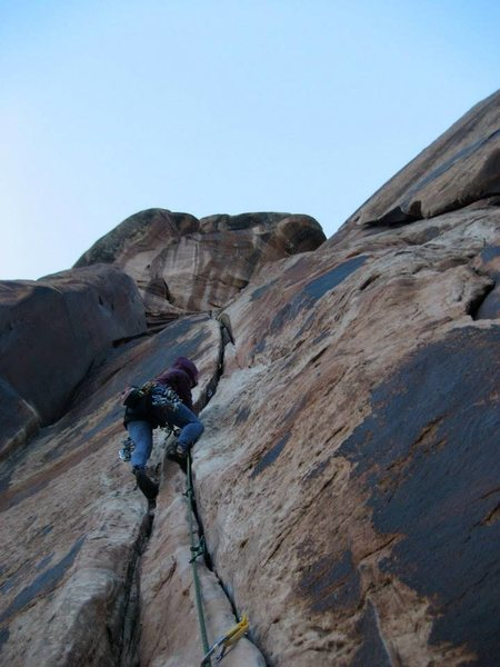 Rock Climbing Photo: and how many of these bits will i clip? ...checkin...