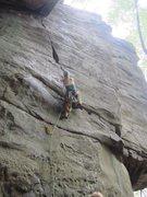 Rock Climbing Photo: chockstone sequence part une. bridge buttress, new...