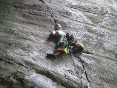Rock Climbing Photo: chockstone sequence part trois. bridge buttress, n...