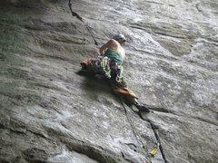 Rock Climbing Photo: chockstone sequence part quatre. bridge buttress, ...