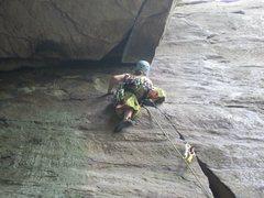 Rock Climbing Photo: chockstone sequence part cinq. bridge buttress, ne...