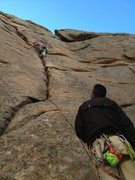 Rock Climbing Photo: climbing up something somewheres up in estes park,...