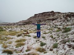 Rock Climbing Photo: did the desert just go to hail in a handbasket? in...