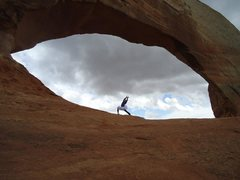 Rock Climbing Photo: just a tiny speck in the eye of the desert... Wils...