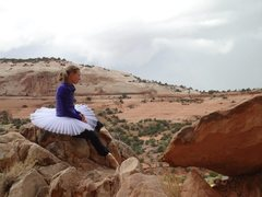 Rock Climbing Photo: tutus, pointe shoes, and sandstone arches, and per...