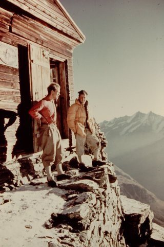 Rock Climbing Photo: Refuge Solvay (Swiss Solvay hut) September 1960, e...