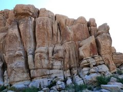 Rock Climbing Photo: The east side of Rock Hudson, Joshua Tree NP