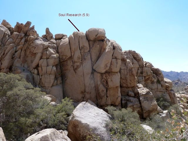Rock Climbing Photo: Soul Research (5.9) lies directly west of The Avia...