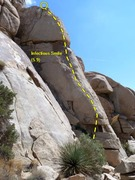 Rock Climbing Photo: Infectious Smile (5.9), Joshua Tree NP