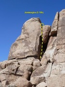 Rock Climbing Photo: Jemimagina (5.10b), Joshua Tree NP