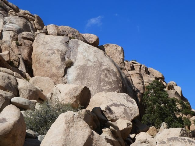 The southwest corner of X Factor Dome, Joshua Tree NP