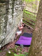 Rock Climbing Photo: Start squatting like this, or with the same holds ...