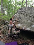 Rock Climbing Photo: Hepler sticking the tough finish to Inglorious.