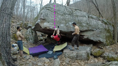 Rock Climbing Photo: Climb up from here