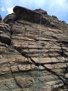 Rock Climbing Photo: The Cactus Kiss climb.  Notice cactus under ceilin...