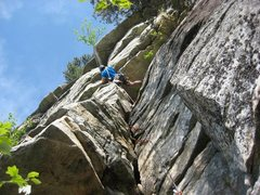 Rock Climbing Photo: Getting into the business on P3 of Maria.  Photo c...