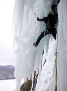 Rock Climbing Photo: Climbing the free-standing pillar on Call of the W...