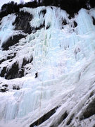 Rock Climbing Photo: Incredible ice! Call of the Wild at Lake Willoughb...