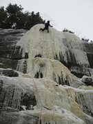 Rock Climbing Photo: Dropline, Cathedral Ledge, NH