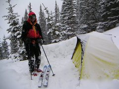 Rock Climbing Photo: Backcountry skiing and camping in Colorado