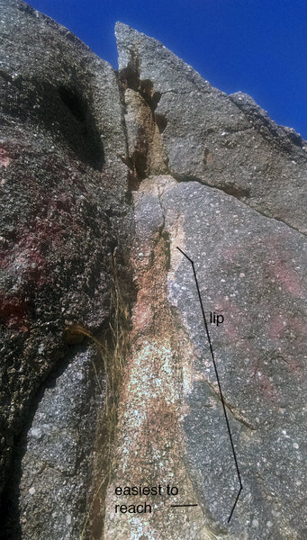 Rock Climbing Photo: Little spiders love this crack. If the web is gone...