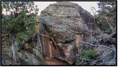 Rock Climbing Photo: Dishonorable Discharge problem beta.