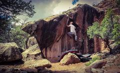 Rock Climbing Photo: Nearing the lip on Stranger Danger.