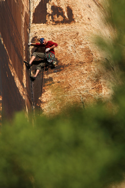 Rock Climbing Photo: Patrick O'Connell on the OS of Formerly Aided  ben...