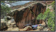 Rock Climbing Photo: Stranger Danger problem beta.