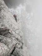 Rock Climbing Photo: Amanda belays from the ledge atop Clown Syndrome. ...