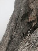 Rock Climbing Photo: Go to that crack. Climb it. Start of P2.