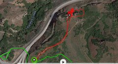 Rock Climbing Photo: This is my GPS track from the parking lot/trail he...