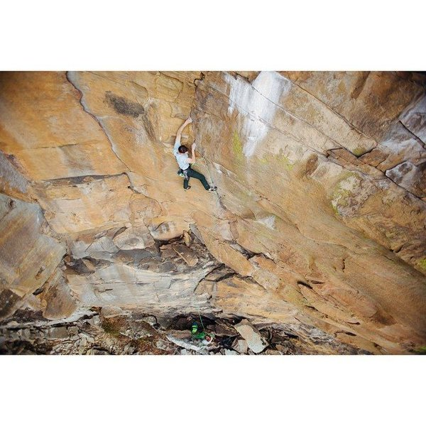 "Rock Climbing Photo: Tyler Casey on ""Tainted Love""  Photo: Sa..."