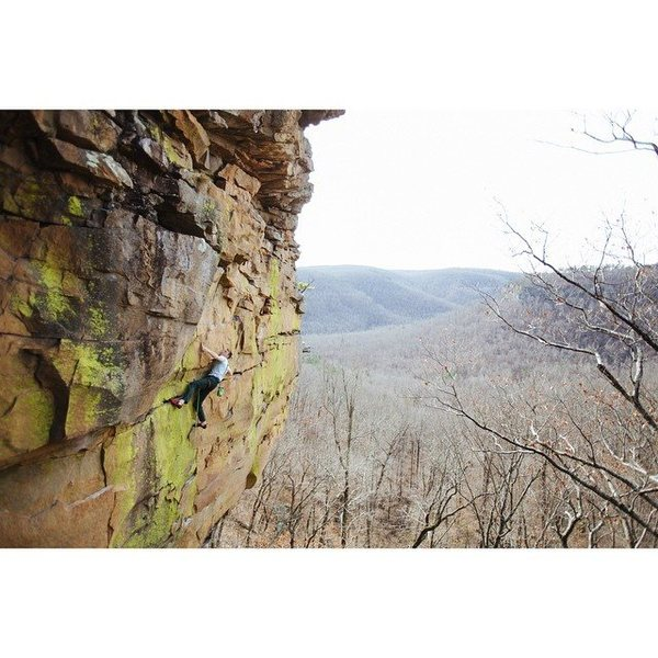 "Rock Climbing Photo: Tyler Casey on ""Gracious Grant""  Photo: ..."