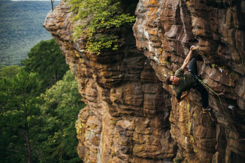 "Rock Climbing Photo: Tyler Casey climbing ""Painted Warrior""  ..."