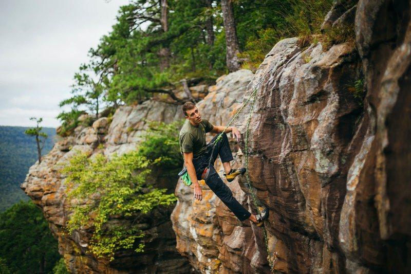 """Rock Climbing Photo:   Photo: Sam Matthews  Tyler Casey on """"Painte..."""