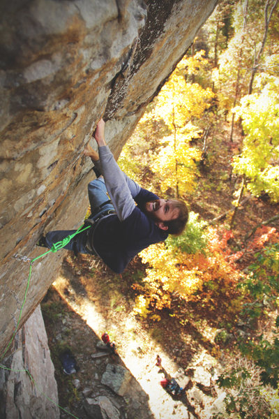 Matt Daniels Climbing &quot;The show me state&quot;<br> <br> Photo: Tyler Casey