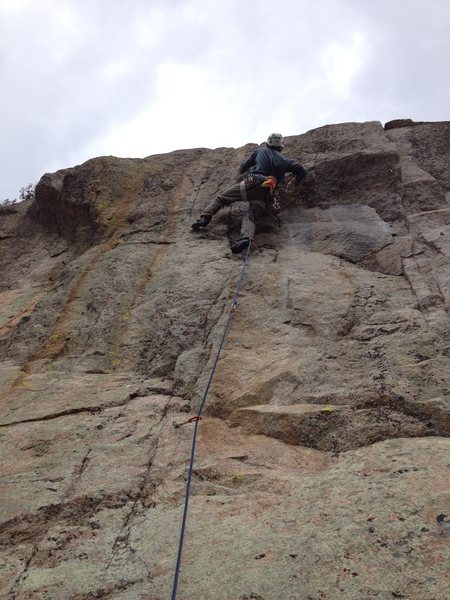 Glen at the crux.