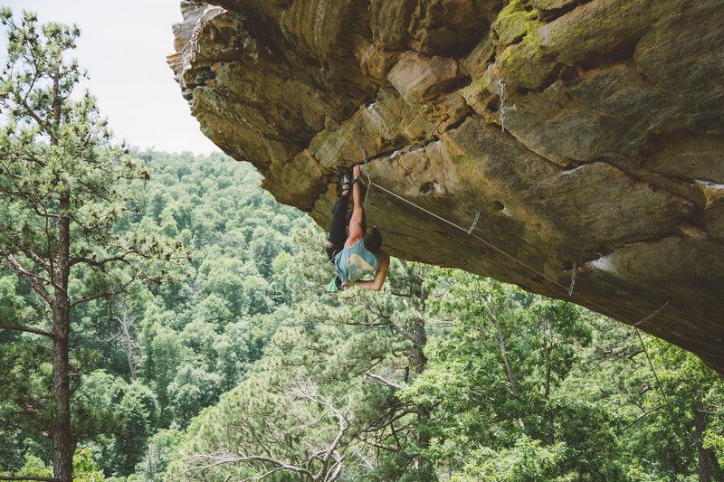 "Rock Climbing Photo:  ""Brick Attack""  Photo: Sam Matthews"
