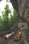 "Rock Climbing Photo: Lying at the base of ""The Invasion"""