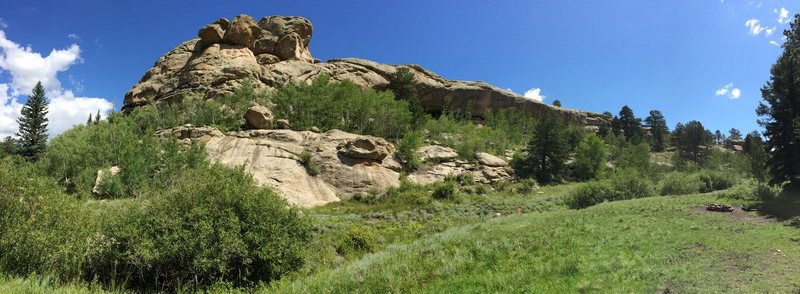 Anyone recognize this crag? It is just outside the canyon off of Wagon Tongue Gulch.