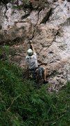 Rock Climbing Photo: Chris Kreutzer on the first assent of Nice to Meet...