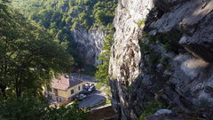 Rock Climbing Photo: View from the Big Cliff with the Small Cliff and t...