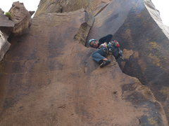 Rock Climbing Photo: Bilberry getting freaky on Epitomist.