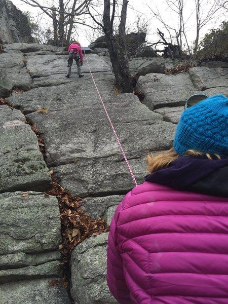 Rock Climbing Photo: Kids climbing