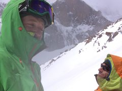 Top of Martha Couloir on MLW.