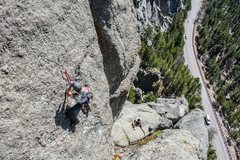 Rock Climbing Photo: Mark Rafferty and John Lang working on a ground up...