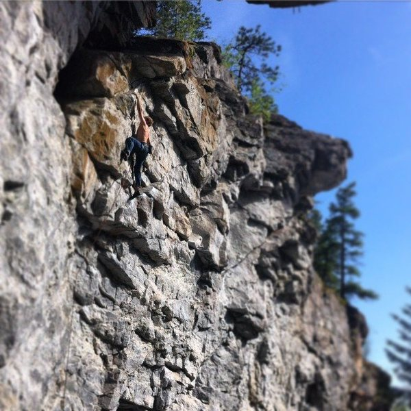 Rock Climbing Photo: Nearing the top of Priapism