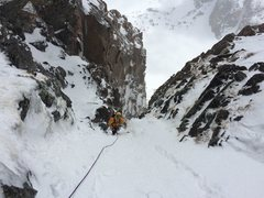 Just past the last ice crux.
