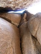 Rock Climbing Photo: The start of Fifteen Minute Gap (5.6), Joshua Tree...